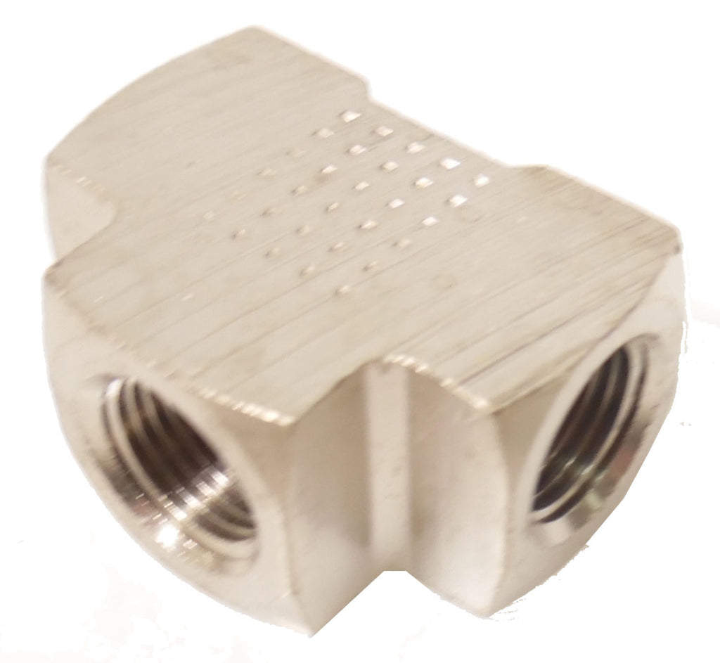 1/8 NPT Female TEE - Finish:Nickel - 1/8 NPT - Air Fittings - Palmers Pursuit Shop