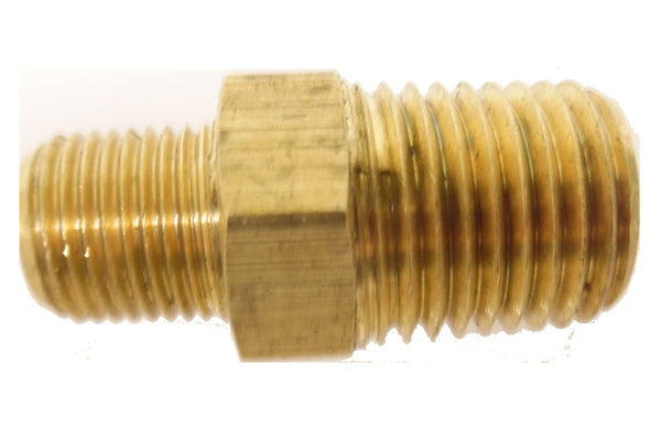 1/4 NPT Male to 1/8 NPT Male Brass Reducer - 1/4 NPT - Air Fittings - Palmers Pursuit Shop