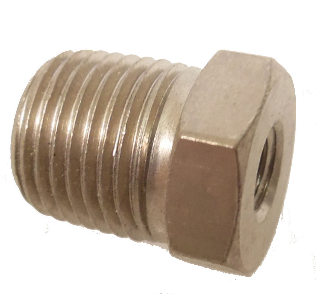 1/8 NPT Male to 10-32 Female Reducer - Finish:Nickel - fittings - Air Fittings - Palmers Pursuit Shop