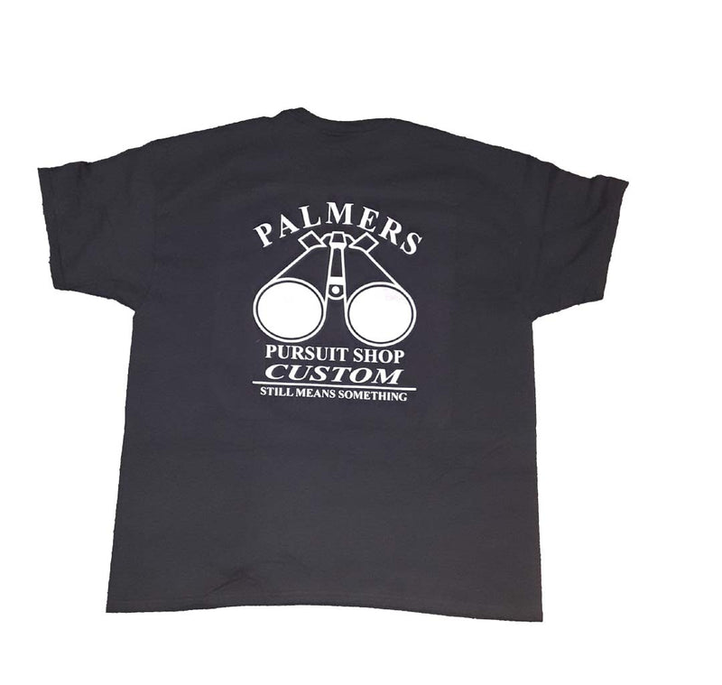 T Shirt, Palmers Pursuit Shop Logo - Color: Black - Paintball - Palmers Pursuit Shop - Palmers Pursuit Shop