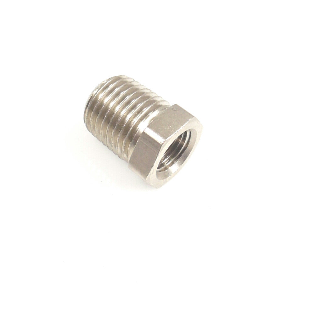 1/8 NPT Female to 1/4 NPT Male Bushing - Finish:Nickel