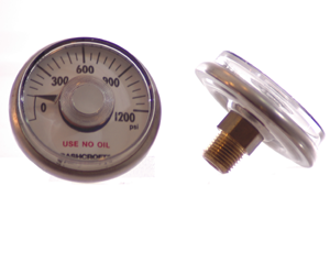 Ashcroft Gauge - :0-1200 PSI  1.5' 2% - Air Fittings - Palmers Pursuit Shop - Palmers Pursuit Shop