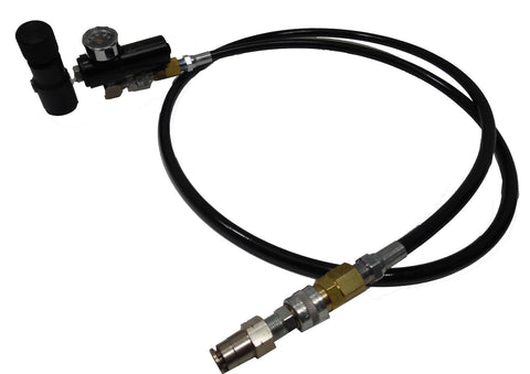 Boulder Air System Regulator Hose assembly for PolarStar PR-15, Fusion Engine, Valken, Wolverine  and most HPA engines. - Specials - Palmer Pneumatics - Palmers Pursuit Shop