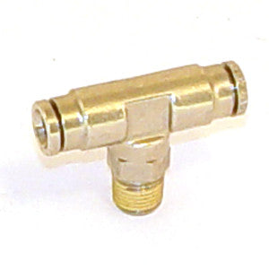 Push Connect Tee, 1/8 NPT - 1/4 Tube - Push Connect Tube Fittings - Air Fittings - Palmers Pursuit Shop