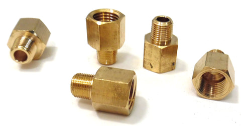 1/4 Female to 1/8 NPT Male Reducer - 5 Pack - Air Fittings - Flare Fittings - Palmers Pursuit Shop