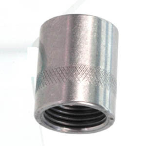 3/8-24  Female to .825x14 Thread Air Supply Adapter, Stainless Steel