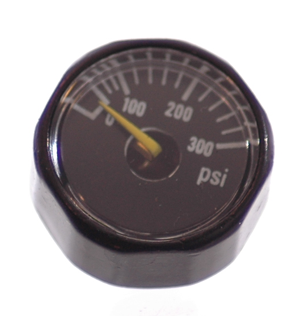 Mini Gauge, 0- 300 PSI - Industrial - Air Fittings - Palmers Pursuit Shop