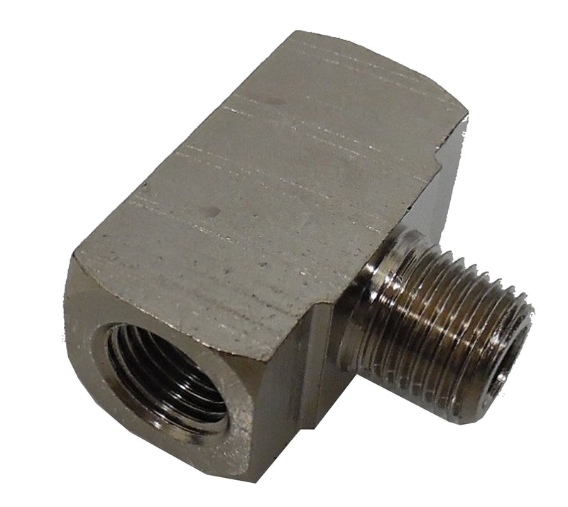 1/8 NPT Female x Male x Female Tee - Finish:Nickel - fittings - Air Fittings - Palmers Pursuit Shop