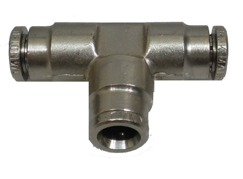 "Push Connect Tee for 1/4"" OD Tube to Tube - fittings - Air Fittings - Palmers Pursuit Shop"