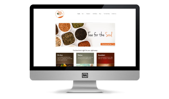 Ecommerce website design for Too Soul Tea Co.