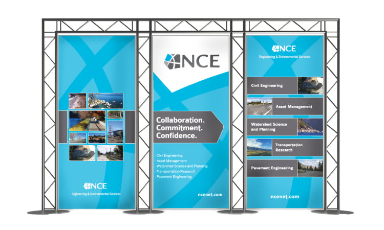 Trade show banner design for NCE in Reno, NV