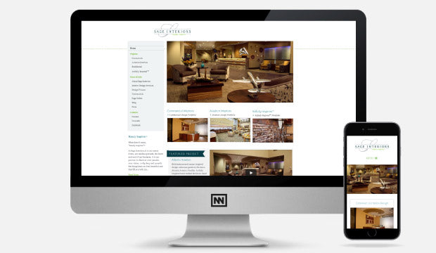 Sage Interiors website design