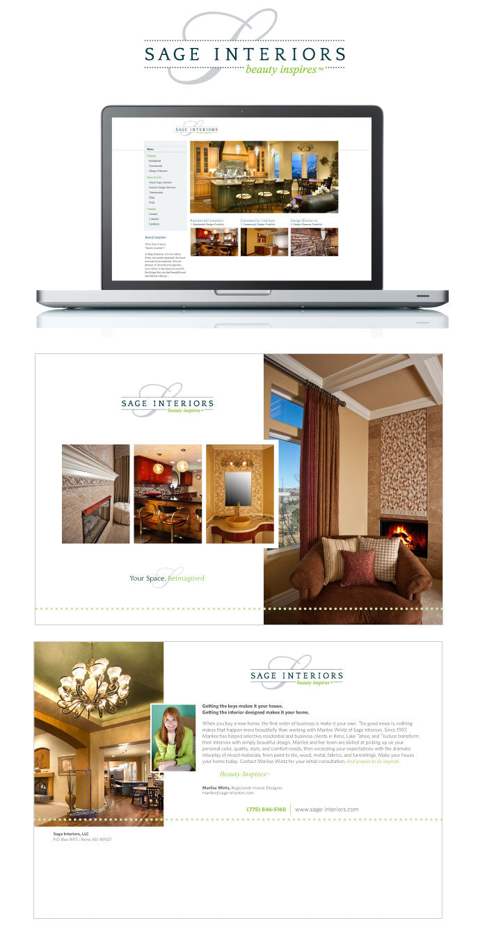 Branding and website design for Sage Interiors