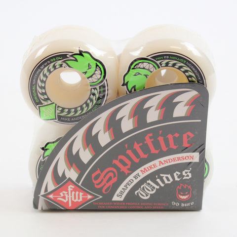 Spitfire Anderson Wides Wheels White 52mm