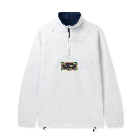 Butter Goods Crest 1/4 Zip Pullover Ash Grey
