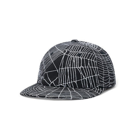 Butter Goods Web 6 Panel Cap Black