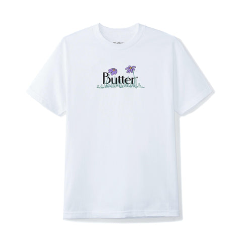 Butter Goods Flowers Classic Logo Tee White