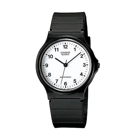 Casio Watch Gents Analogue Black Band