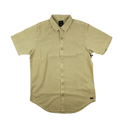 RVCA Crushed SS Shirt Dust Yellow Sale