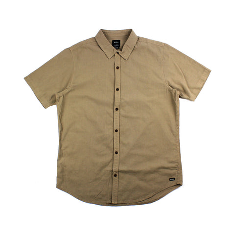 RVCA Crushed S/S Shirt Brown Sale