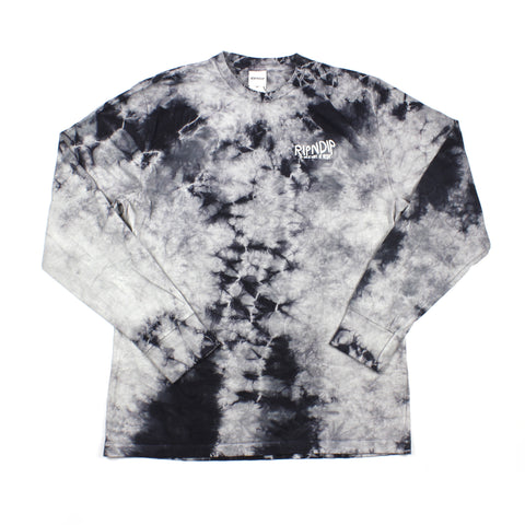 RipNDip The Great Wave Longsleeve Grey Tie Dye
