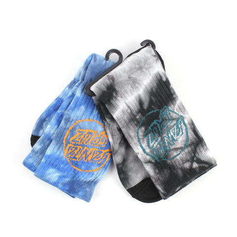 Santa Cruz Youth Socks 2pk Tie Dye