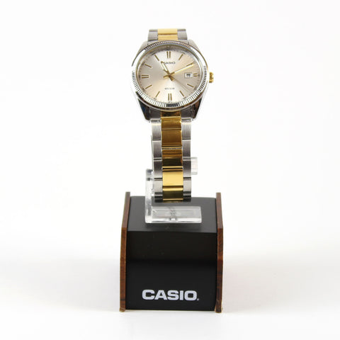 Casio Watch Gents Analogue Watch Gold Hands