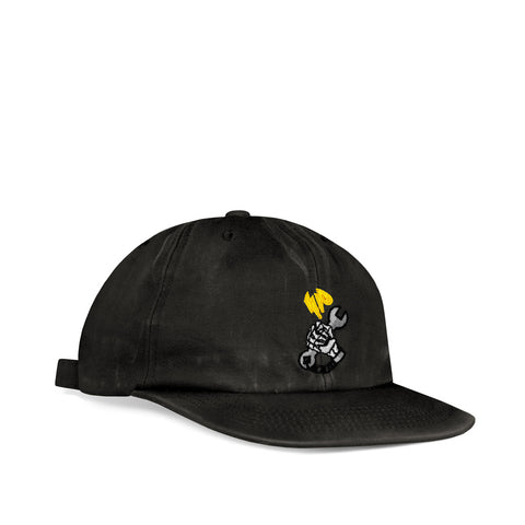 Ichpig Workers Washed 6 Panel Vintage Black