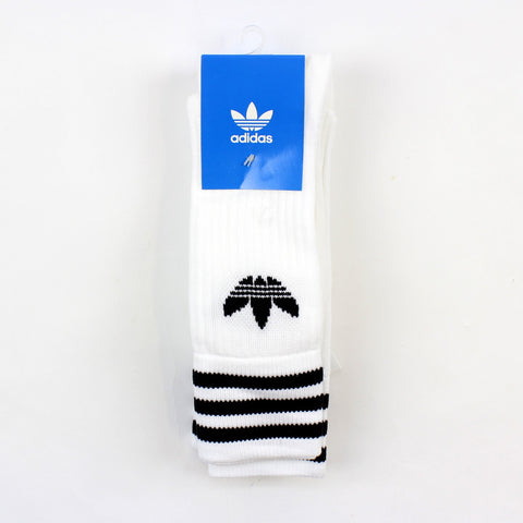 Adidas Solid Crew Socks White