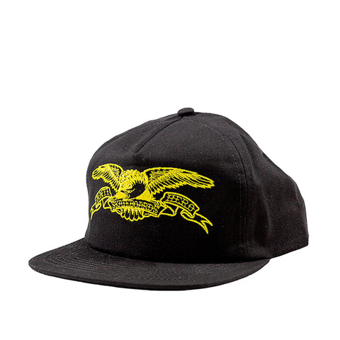 Antihero Basic Eagle Snapback Cap Black/Yellow