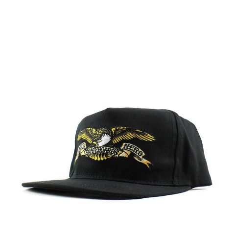 Antihero Eagle Embroidered Snap Cap Black