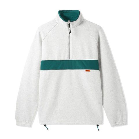 Butter Goods Axis 1/4 Zip Heather Grey/Dark Teal