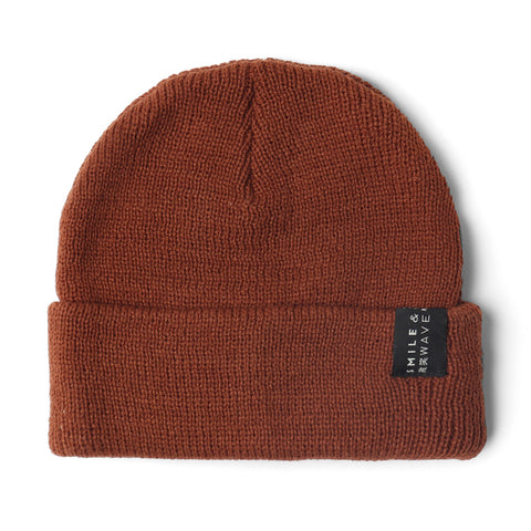 Smile + Wave Basic Beanie Brown