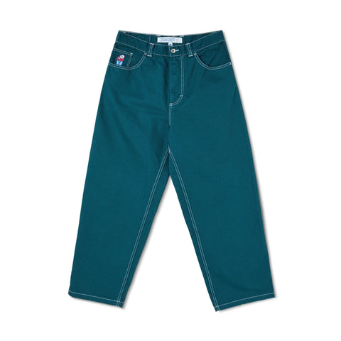 Polar Big Boy Jeans Contrast Stitch Green