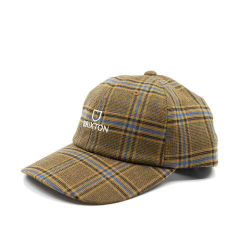 Brixton Alpha LP Cap Blonde Plaid