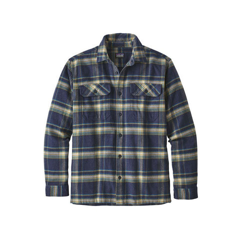 Patagonia Fjord Flannel Activist Navy Blue Size Large Sale