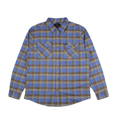 Brixton Bowery Longsleeve Flannel River Blue