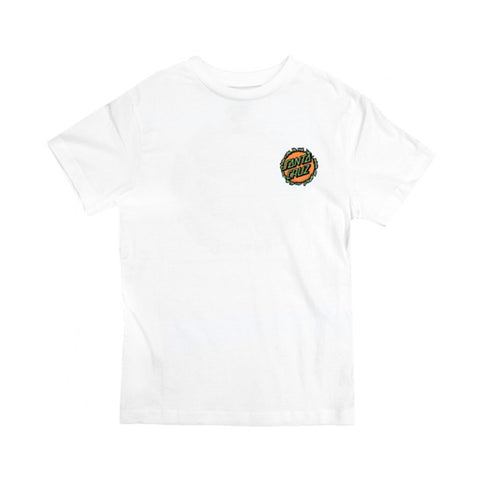 Santa Cruz Breaker Dot Tee Youth White