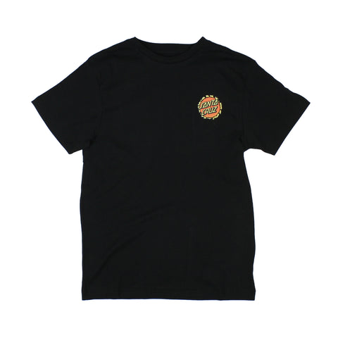 Santa Cruz Breaker Dot Tee Youth Black