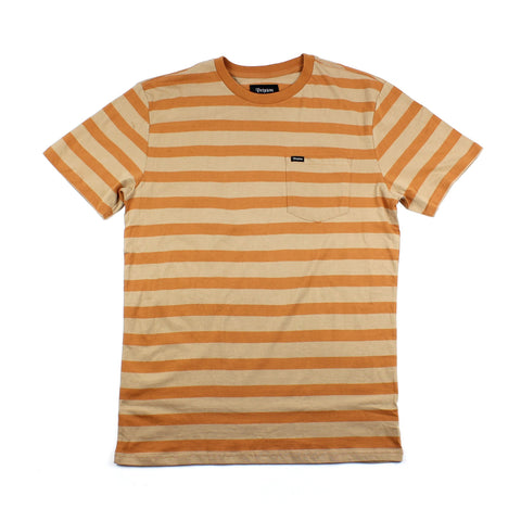 Brixton Hilt Pocket Tee Knit Desert Sale