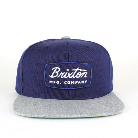Brixton Jolt Snapback Navy/Heather Grey