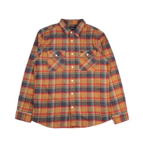 Brixton Bowery Flannel Navy/Copper