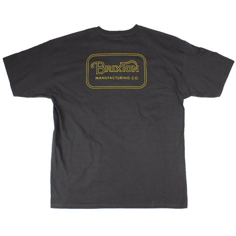Brixton Grade Standard Tee Washed Black/Bronze