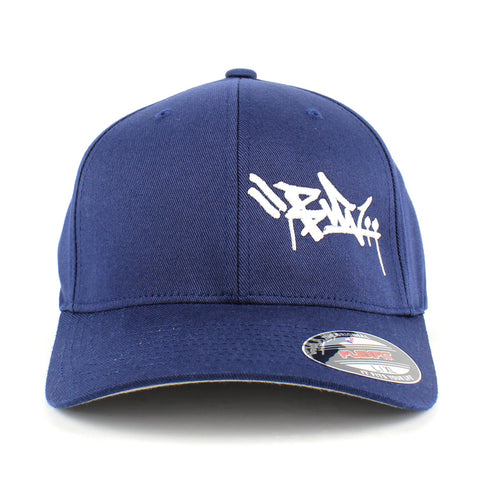 Burn Tag Flexfit Cap Navy/White