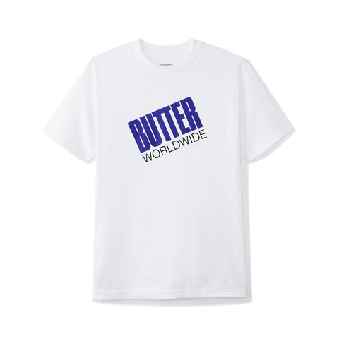 Butter Goods Tilt Logo Tee White