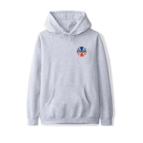 Butter Goods Press Logo Pullover Hood Heather Grey