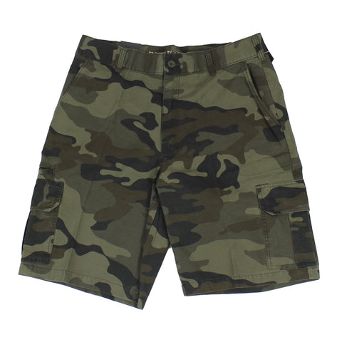 "Dickies WR351 11"" Relaxed Fit Black Camo Rip Stop Short"