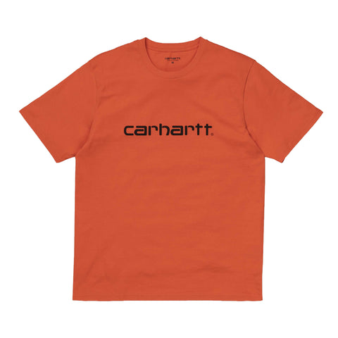 Carhartt S/S Script T-Shirt Brick Orange