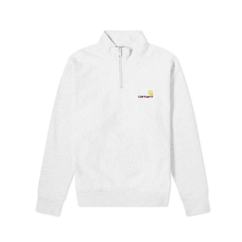 Carhartt Half Zip American Script Sweat Ash Heather