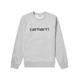 Carhartt Embroidered Logo Sweat Grey Heather/Black
